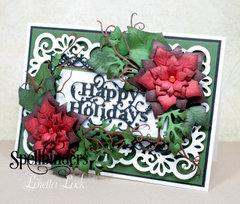 Heirloom Rectangle Happy Holidays Card by Loretta ZLock
