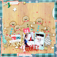 Baking Cookies Layout by Anna Komenda