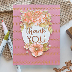 Floral Thank You Card by Marie Nicole