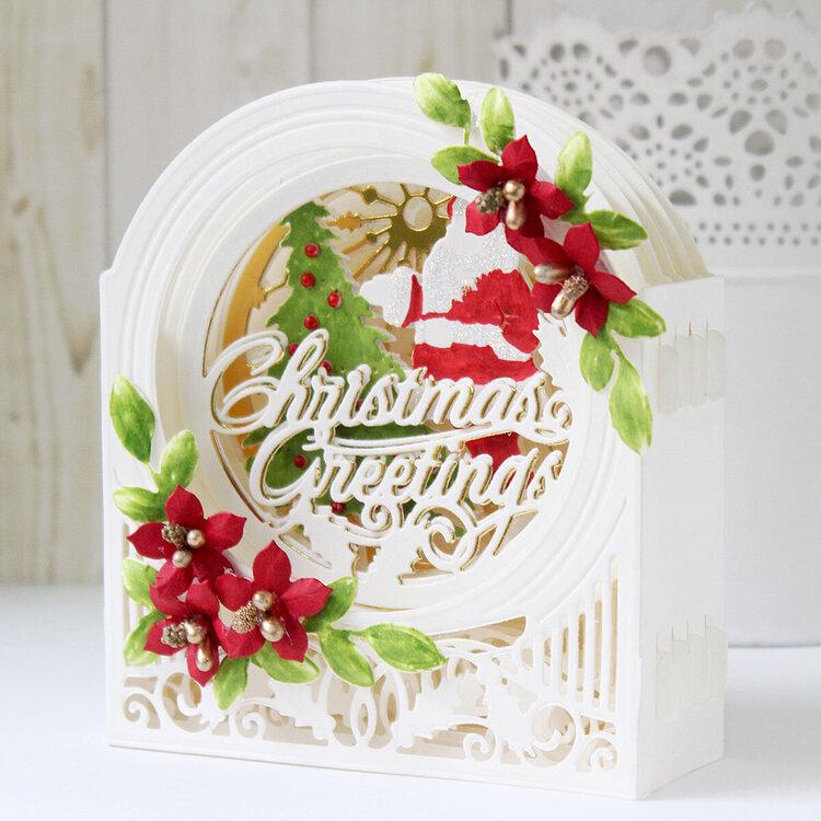 Layered Christmas Card by Hussena Calcuttawala