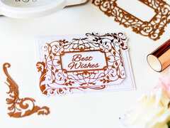 Best Wishes Foiled Card by Laura Volpes