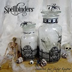 Spooky Halloween Jars by Judy Hayes