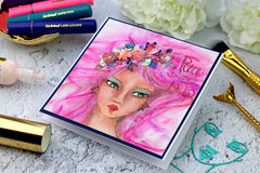 Whimsical Girl Card by Bibi Cameron