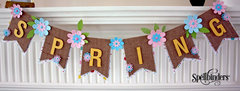 Spring Time Bunting With Spellbinders Contour Dies by Christine Emberson for Spellbinders