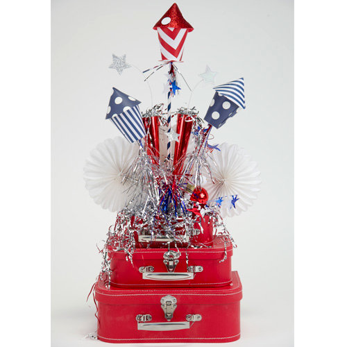 4th of July Sparkly Table Arrangement Tutorial from Spellbinders