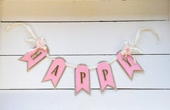 Happy Banner by Debi and Michelle from Spellbinders