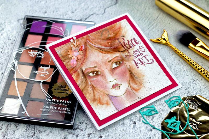 Whimsical Girl Card by Bibi Cameron