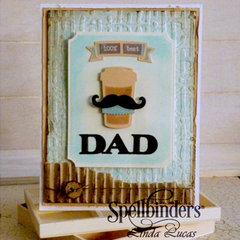 100 Percent Best Dad Card by Linda Lucas for Spellbinders