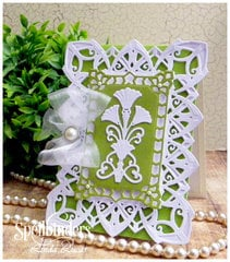 Art Deco Astoria And Fairmont Decorative Accent Layered Card by Linda Lucas for Spellbinders