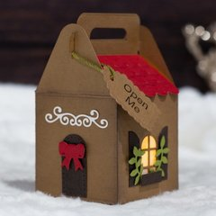 Gingerbread House Gift Box with Koren