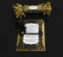 Invitation and place card designed by Debi Adams for Spellbinders