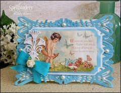 AStoria Labels Valentine Card by Linda Lucas for Spellbinders