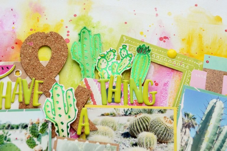 Spellbinders Glimmer Plates Cacti Layout
