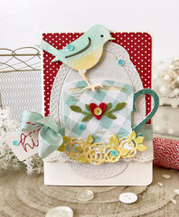 Robin & Rosy Mug Card by Melissa Phillips