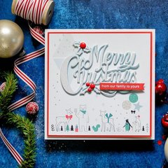 Holiday Card with Merry Christmas Die