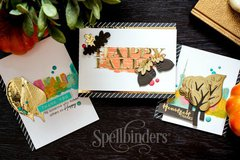 Fall Cards featuring Spellbinders Woodland Collection
