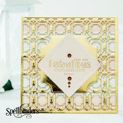 You Are Fabulous Deco Lux Card Front by Yana Smakula for Spellbinders