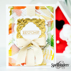 Create One Of A Kind Watercolor Background With Spellbinders Dies