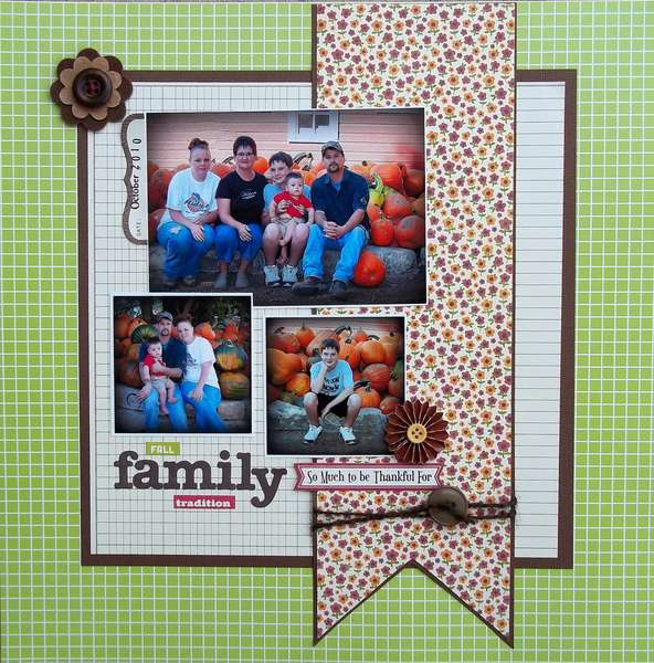 Fall Family Tradition * Personalscrapper kit*