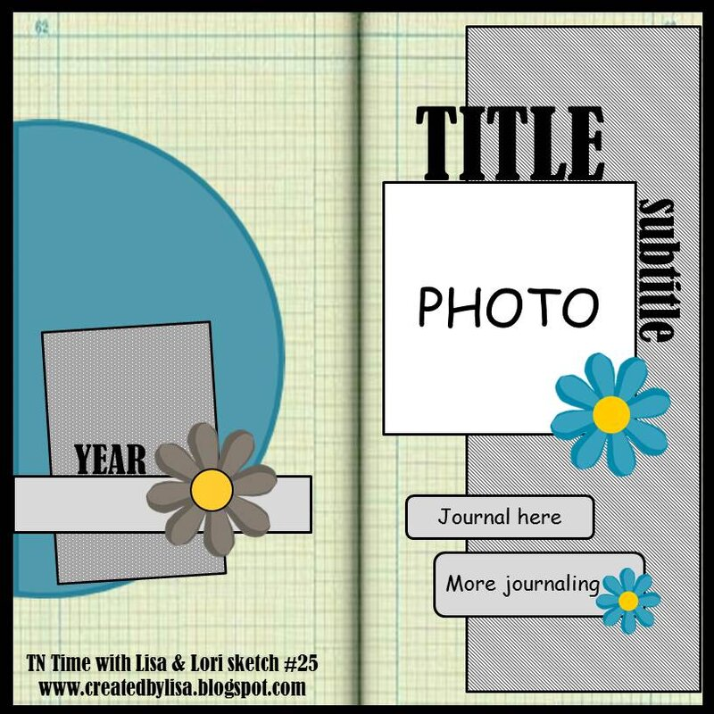 January 2021 sketch for the TN Time with Lisa & Lori challenge