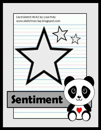 Sketch N Scrap Card sketch #142