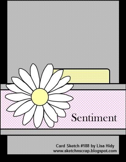 Sketch N Scrap Card Sketch #188