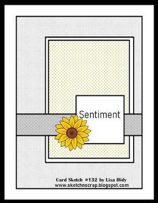 Sketch N Scrap card sketch #132