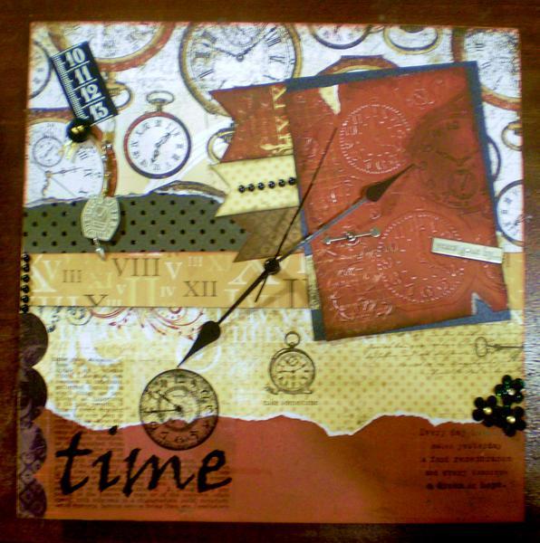 Altered clock *DT Scraps of Color E:spire*