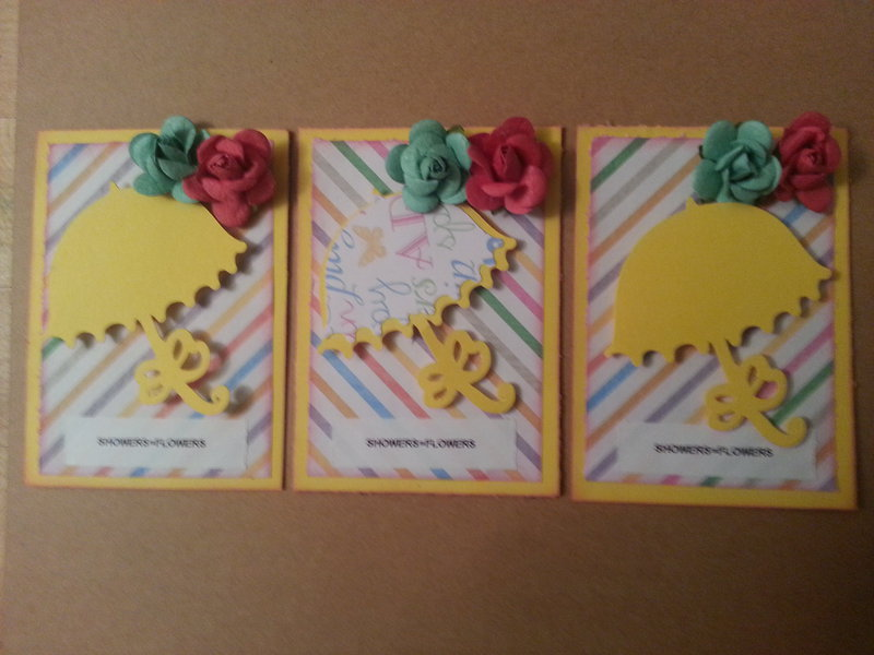 **April showers bring May flowers ATC**