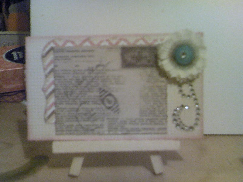 **Vintage Chic mini page**front