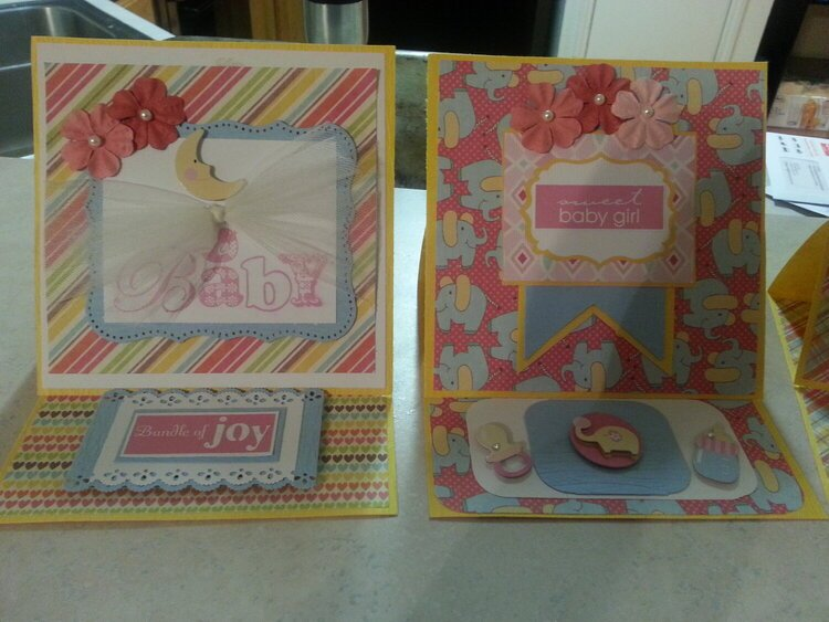 ***Baby Girl Easel Cards***