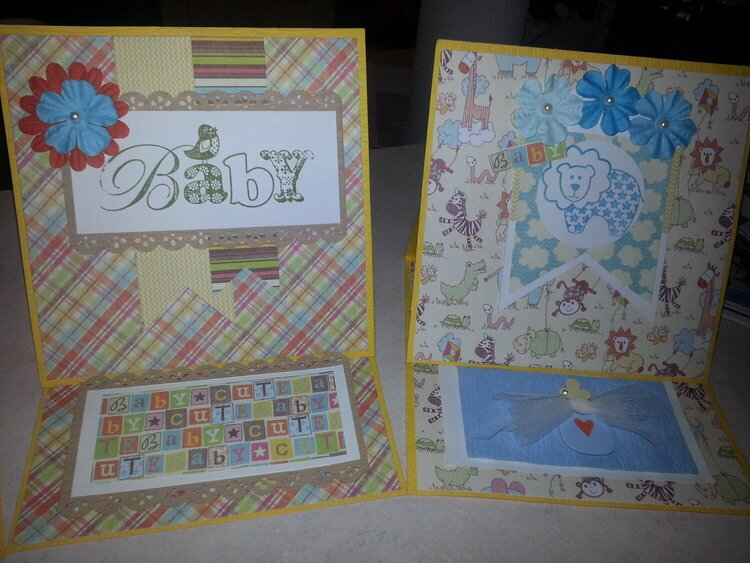 **Baby Boy Easel Cards**