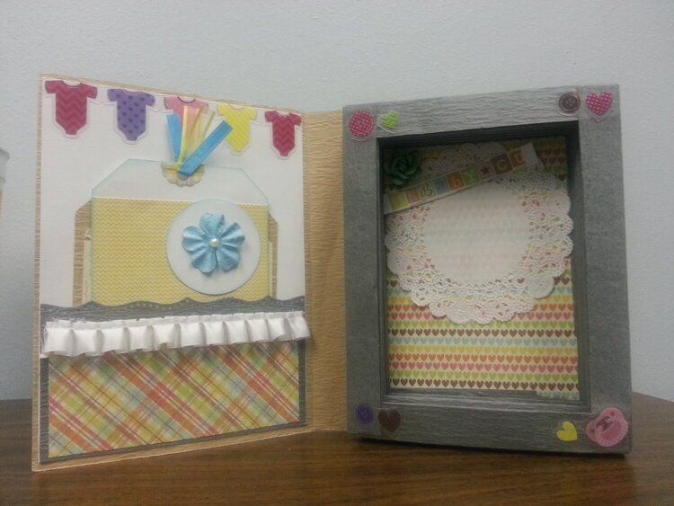 **Faux Book Card with Tags**