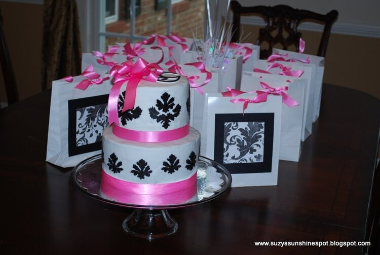 Cake and Goodie bags