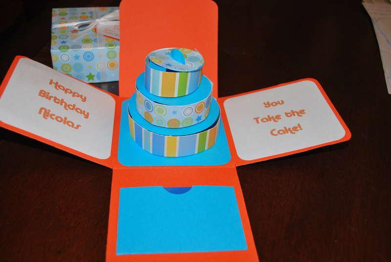 3-D Cake in box