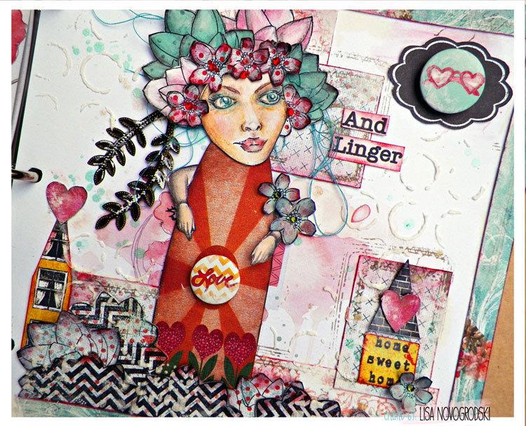 Bloom Girls Mixed Media Art Journal- Jamie Dougherty