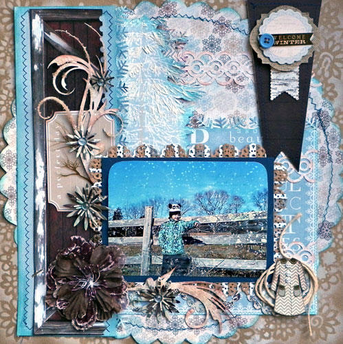 Welcome Winter **Scraps of Darkness**Gina's Designs**