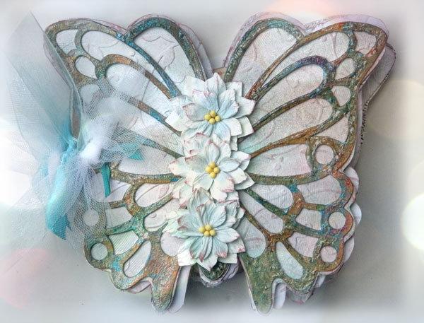 Butterfly Mini Album **GINA'S DESIGNS LASERCUTS**