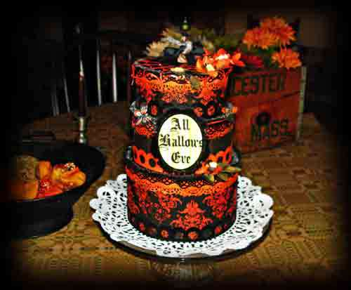 All Hallows Eve Cake **Scraps of Darkness**
