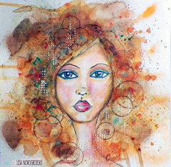 Bloom Girl Sharon Portrait Painting *Jamie Dougherty*