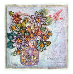 Floral Canvas *Scraps of Elegance*