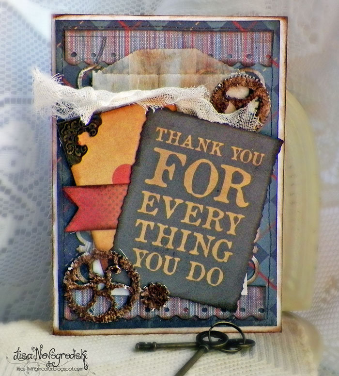 Fathers Day Card **Scraps of Darkness**Gina's Designs**