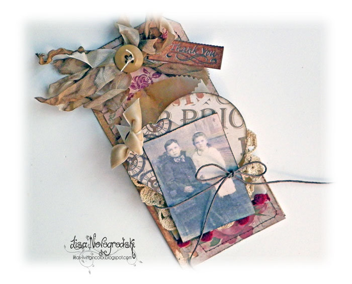 Vintage Thank You Tag ** Ruby Rock It **
