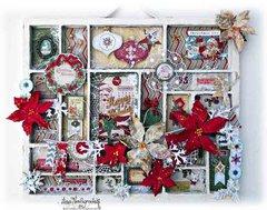 Christmas Printers Tray **Scraps of Elegance **