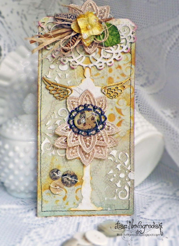 Dress form tag** Scraps of Elegance & Tresors deLuxe**