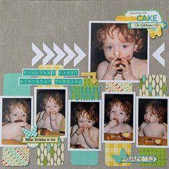 First Cupcake Layout by Kim Holmes
