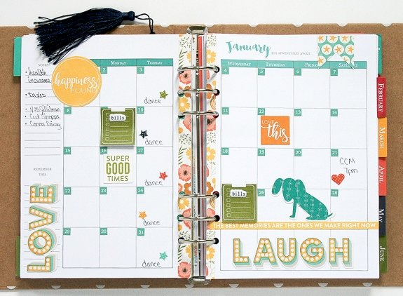January Calendar by Wendy Antenucci