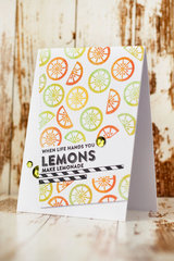 When Life Hands You Lemons Card by Julia Akinina for Jillibean Soup
