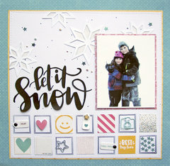 Let It Snow Layout by Nicole Nowosad