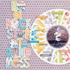 Rock Star At Kindness Layout by Zsoka Marko